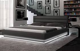 platform bed with led lights black platform bed featured led lighting make a mattress stay put