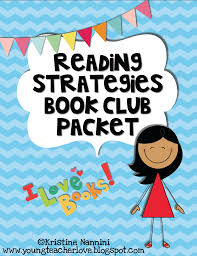 free reading strategies book club packet apply the six reading