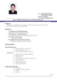 Resume Sample Data Entry by Civil Autocad Draftsman Resume Youtuf Com