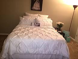Target Bedroom Set Furniture Threshold Pinched Pleat Comforter Set Queen Bed King Size