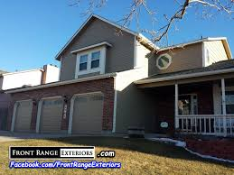 front range exteriors inc painting replacement gutters garage