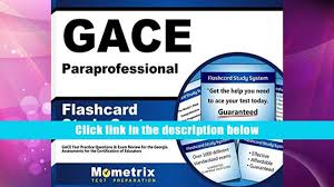 read online gace paraprofessional flashcard study system gace