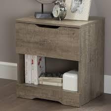 modern 3 drawer nightstands wood frame material knobs metal handle