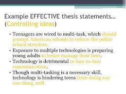 write a good thesis statement good thesis ideas