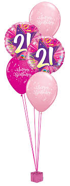 birthday balloon bouquet pink 21st birthday balloon bouquet party fever