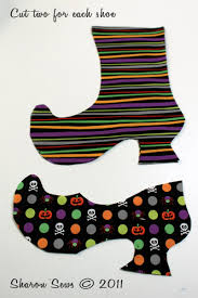 sharon sews tutorial sew halloween witch shoe treat bags or
