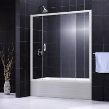 frameless shower glass doors for a tub shower atlanta georgia