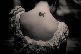 small back neck butterfly