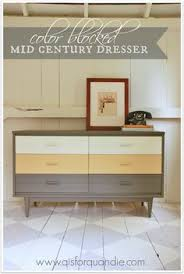 ombre stained mid century modern dresser buffet by funcycled www