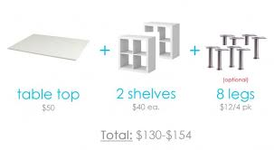 diy craft table ikea make a counter height craft table from 2 shelves a table top and