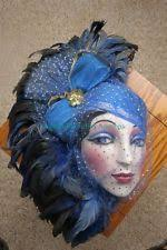 mardi gras wall masks porcelain brown black feather wall mask i this