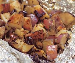 Red Potato Main Dish Recipes - grilled potato u0026 mushroom packages finecooking
