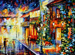 paint dream leonid afremov town from the dream painting anysize 50 off town