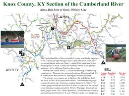 Lake Cumberland Map New Brochure On Paddling The Cumberland River In Knox County Ky