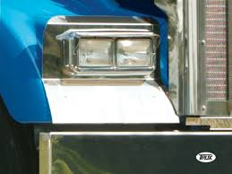 w900l kenworth w900l headlight surround fender guard