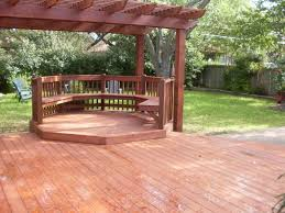 backyard wood deck home outdoor decoration