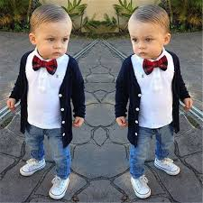preppy clothing 2017 baby girl boy clothes preppy shirt bow tie