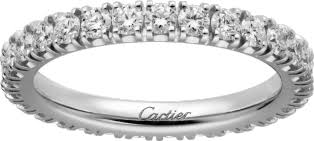 cartier alliances crb4087100 étincelle de cartier wedding band platinum