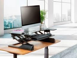 Adjustable Height Workstation Desk by Sit Stand Height Adjustable Desk 36 Black Monoprice Com