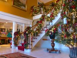Christmas Banister Garland Ideas Interior Designs Stairs Decoration Christmas Stairs Decoration