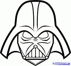 darth vader mask coloring pages coloring