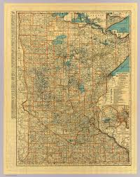 Minnesota Map Minnesota Road Map David Rumsey Historical Map Collection
