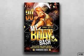 wanted birthday party flyer template thats design store