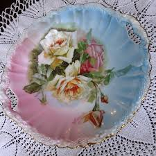 rs prussia bowl roses vintage rs prussia bowl decorative roses open handled stipple