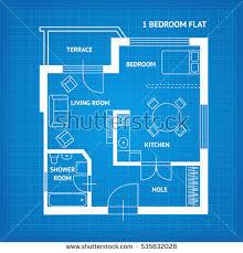 floor plan blueprint apartment floor plan blueprint top view stock vector 535632028