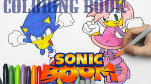 sonic boom coloring book pre arts for kids videos youtube