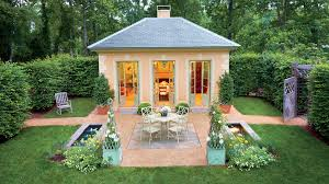 Backyard Little House Classic Courtyards Southern Living