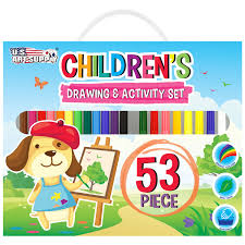 53 piece childrens art and activity drawing marker set kids arts