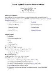make a cra resume sample esample resume com clinical research