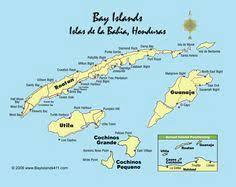 map of roatan honduras map of roatan bay islands honduras