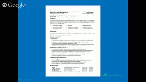 Functional Resume Sample Functional Resume Samples Quick Study Youtube