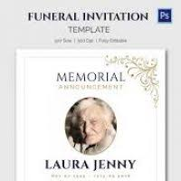 awesome funeral invitation template gallery best resume examples