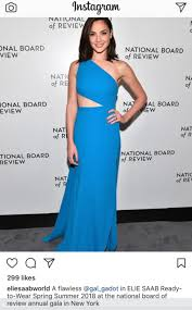 dress gal row after gal gadot wears dress by elie saab daily mail online