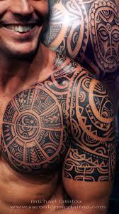 polynesian chest and half sleeve half sleeve and chest bad