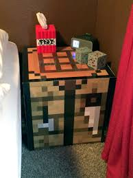 Lighted Nightstand Minecraft Crafting Table Tnt Klenex Box And Lighted Diamond And
