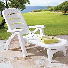 Outdoor Furniture Lounge Chairs by Amazon Com Brylanehome Resin Folding Lounger White 0 Patio