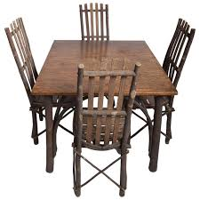 hickory dining room chairs antique adirondack old hickory table and chairs for sale at 1stdibs