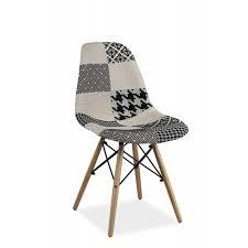 chaise noir et blanc chaise dsw patchwork simon 2 style scandinave noir et blanc