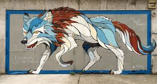 Mural Software by Designed On Surface Creating A Magical Wolf Mural With Andreas In
