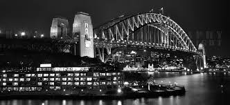 city wall mural wallcreations a wall mural of the sydney harbour bridge at night