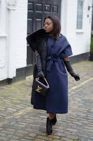 blue nasty gal scuba dress coat black zara fur stole louis vuitton