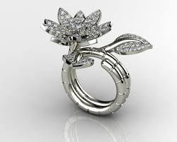 flower engagement rings beautiful flower engagement rings 3d printable model