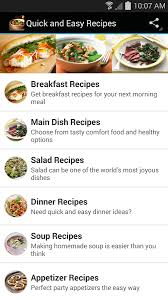 Quick Simple Dinner Ideas Quick And Easy Recipes Android Apps On Google Play