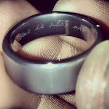 wedding band inscription prankster engraved husband s wedding ring with this cheeky