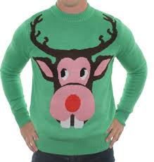 rudolph sweater bucktooth rudolph sweater uglychristmassweaters com