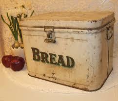 1940s metal bread box bread
